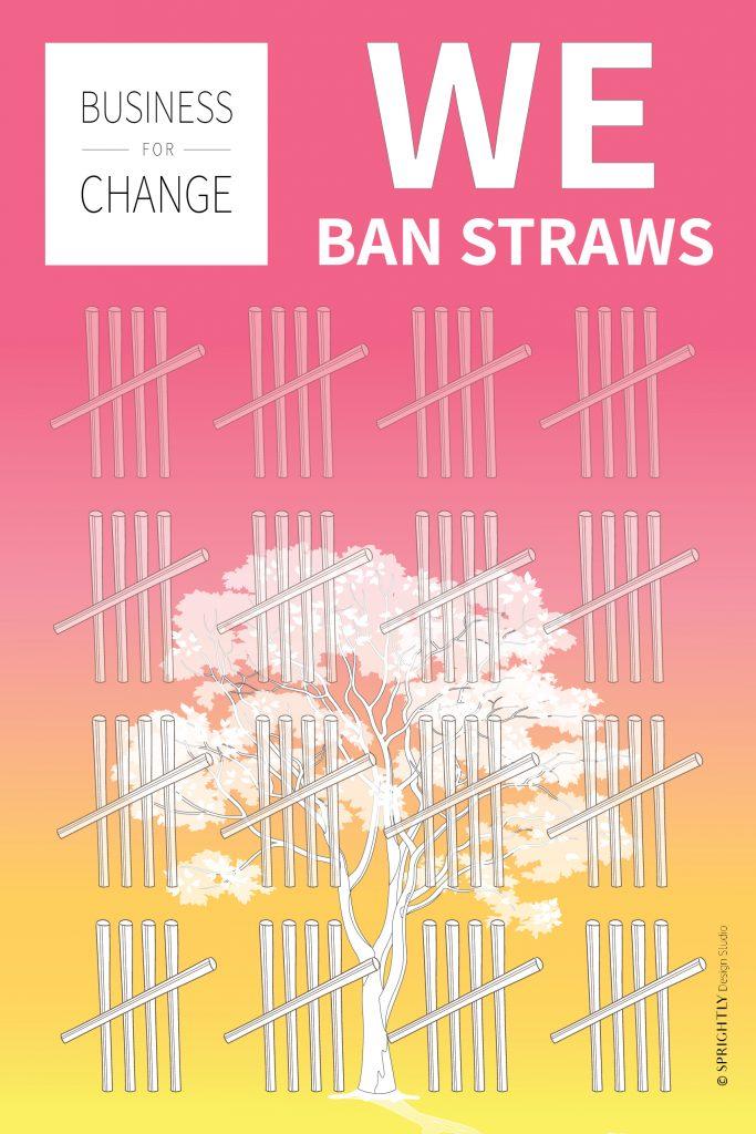 We ban Straws poster
