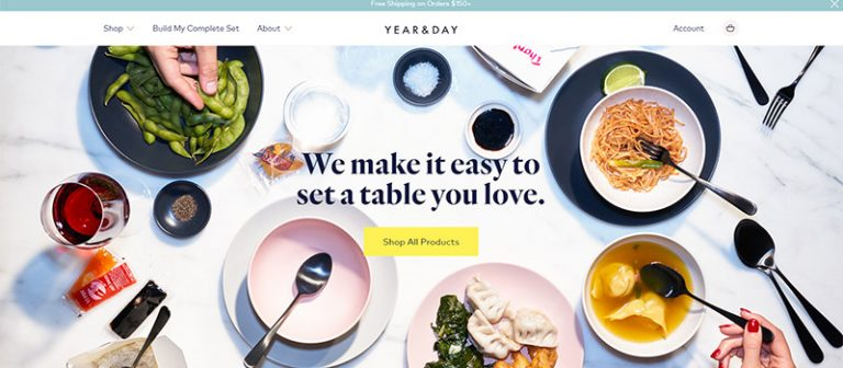 Year and Day Homepage design