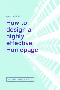 How to design a highly effective homepage