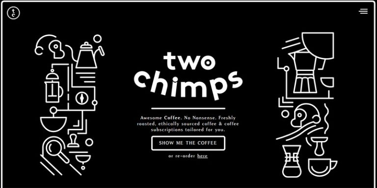 Two Chimps homepage design