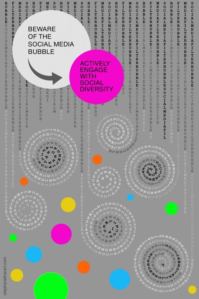 Social Media Bubble Poster