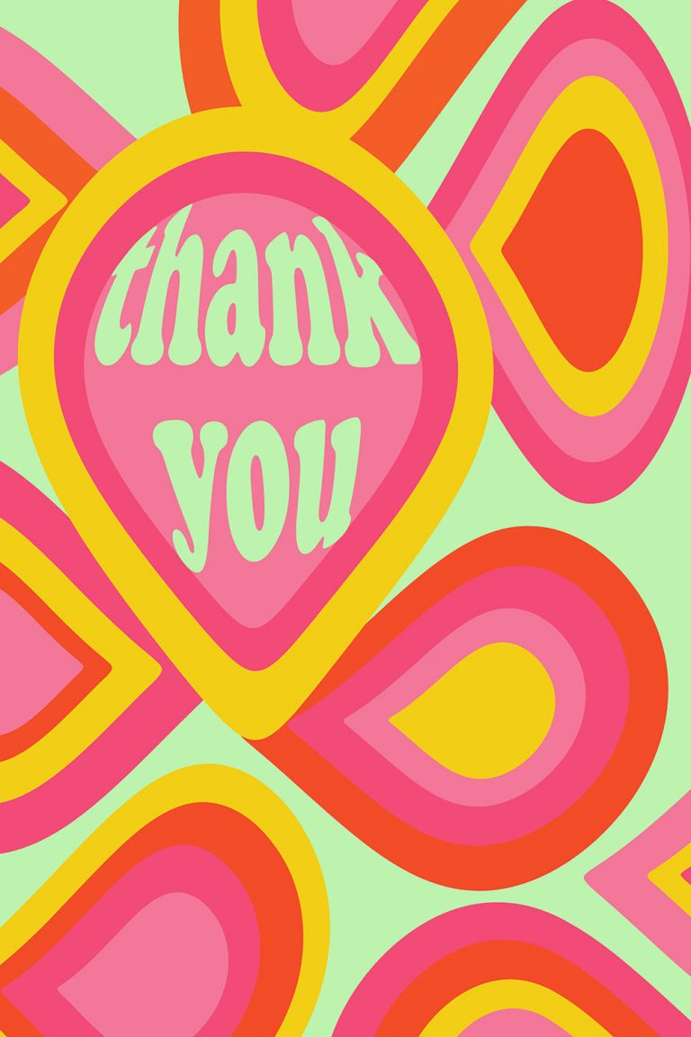Thank-you poster in 70s style