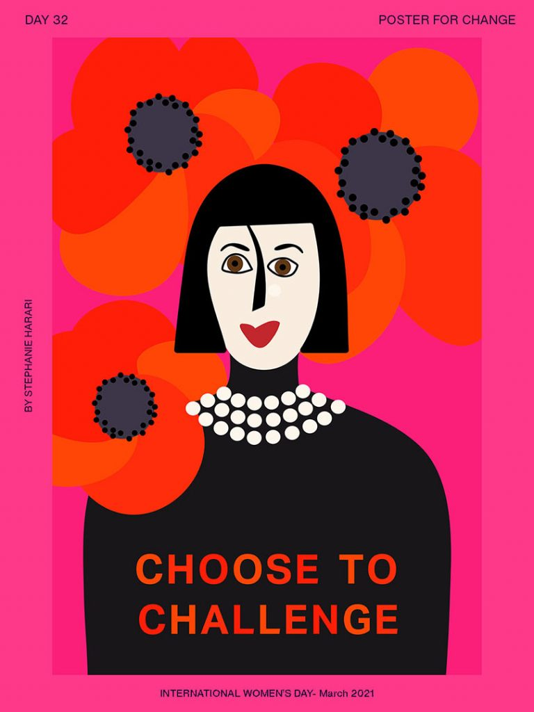 INTERNATIONAL WOMAN'S DAY POSTER INSPIRED BY ROSSY DE PALMA