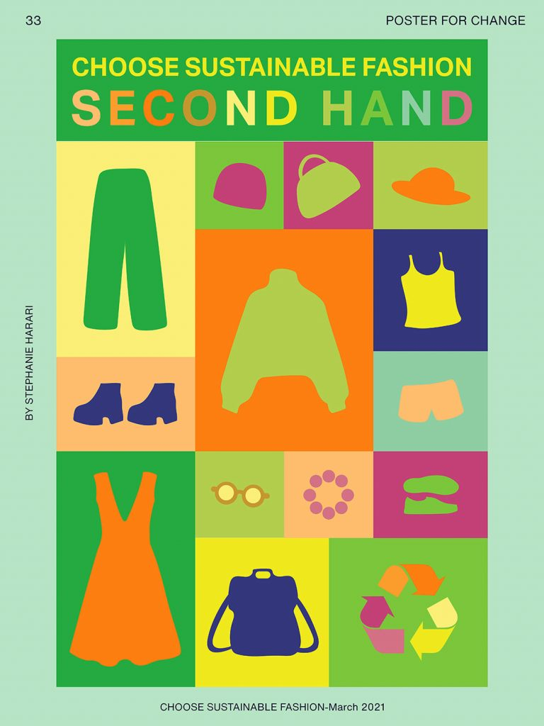 Choose second hand colorful poster