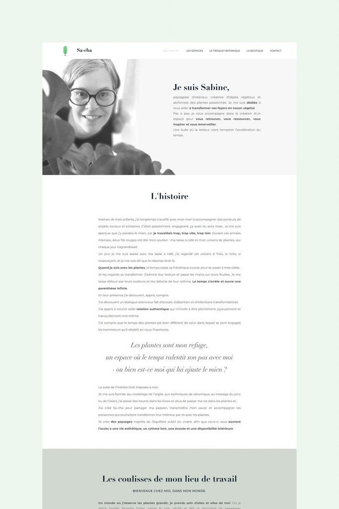 Plant web Design Inspiration - About Page