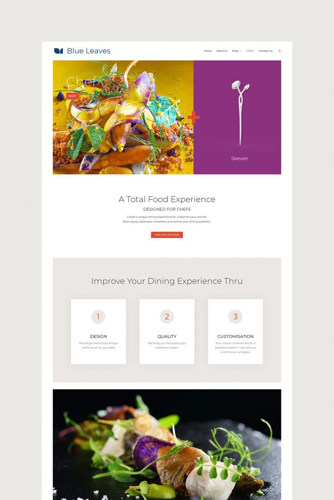Chef's Page Design
