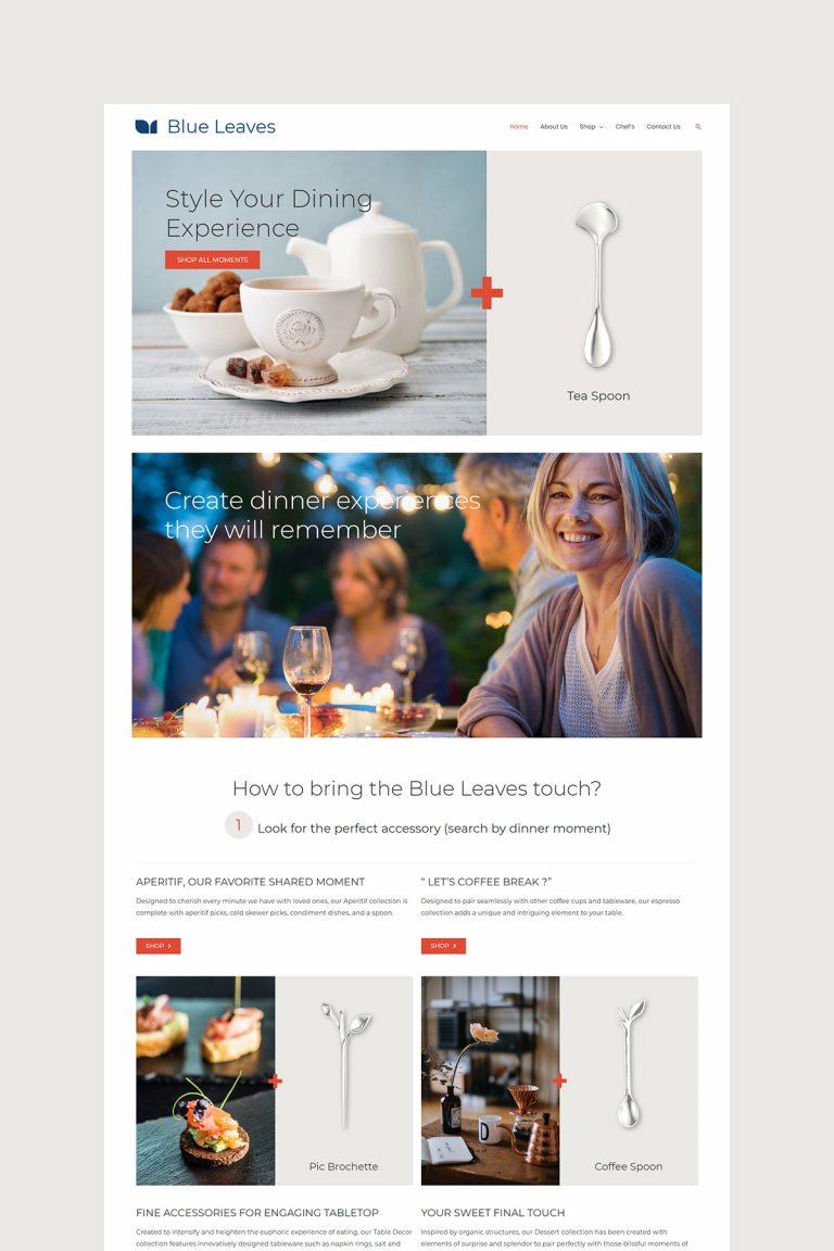 Blue Leaves Homepage Design